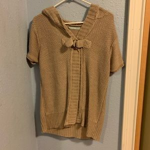 Maurices cable knit short sleeved top with hood
